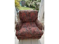 (FREE) Quality Feather-Cushioned Armchair
