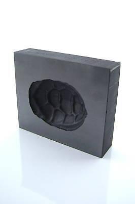 Graphite Glass Lampwork 3D Turtle Shell Push Mold 2.5x3
