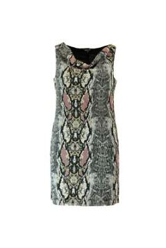 MS Mode Dames Bodycon jurk met snakeprint Zwart