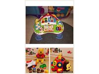 Activity table and other baby toys bundle