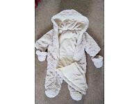 Unisex Baby Snowsuit Teddy 6-9 month