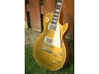 GIBSON LES PAUL GOLDTOP: Traditional non chambered Les Paul