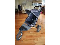 Out 'n' About Nipper single pushchair, grey, with accessories, good condition