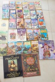 Collection of Terry Pratchett Books (One Signed)