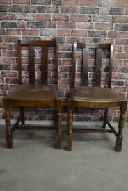 2 X DARK WOOD VINTAGE CHAIRS £30 FOR BOTH