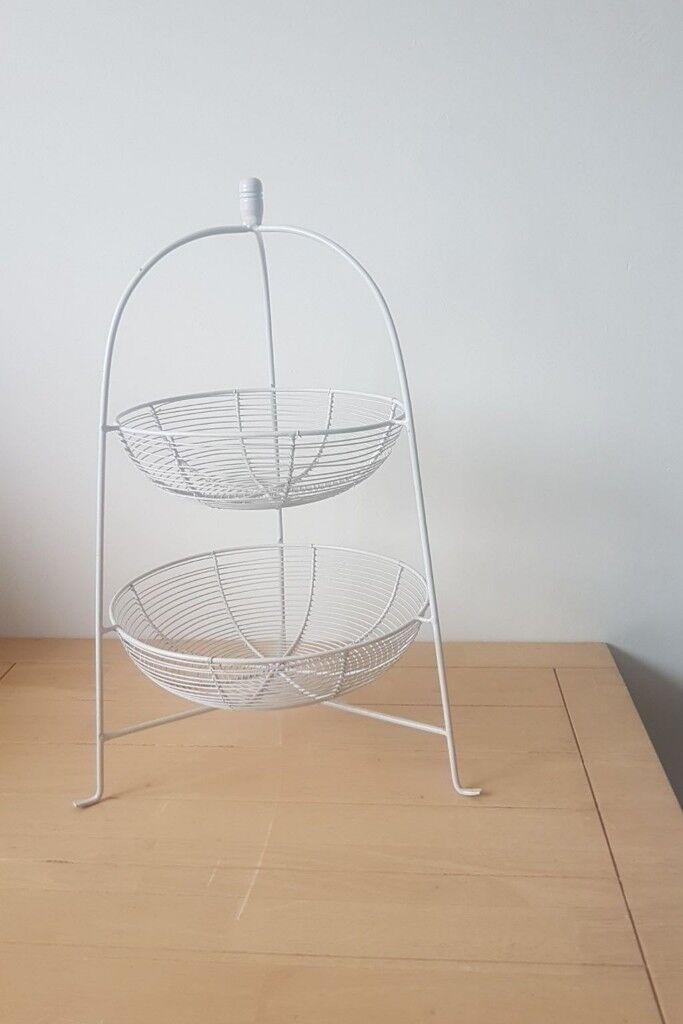 Large 2 Tier Fruit Veg Basket Stand