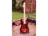 Fender 2012 MIA P Bass 3 Colour Sunburst, Maple Neck, Maple Fingerboard, Custom Shop 60's Pup's