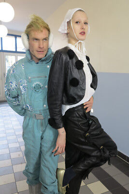 design Chris Hütten Lederjacke jacke True VINTAGE 90s luxury leather jacket