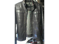 Leather look jacket from Zara (Mens small)