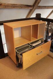 IKEA Wooden Filing Cabinet
