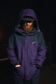 Berghaus Gortex Extreme 7000 jacket. Dark blue/Purple. Size L