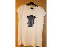BRAND NEW with tag EMPPORIO ARMAANI White Ladies T-shirt Size 18 (46)