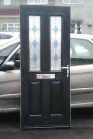 Composite door for sale blue on the outside white inside,