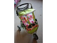 Kid's doll's double buggy