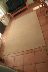 Large rug, beige/mustard colour, in good condition