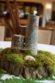 Wedding Centre Pieces - Woodland Natural