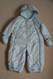 Baby boys snowsuit age 9 – 12 months