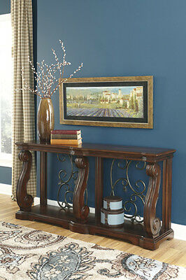 Ashley Furniture Sofa Table Alymere Rustic Brown T869 4 Table 64 W X 16 D X 32 H