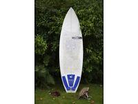 """JS SURFBOARD 6"""" Quality Professional, Performance, fish fun board, thruster, FULL KIT"""