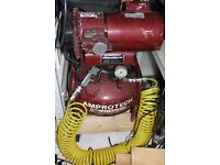 Amprotech compressor 8bar 240v silent compressor with air hose and accessories, heavy duty