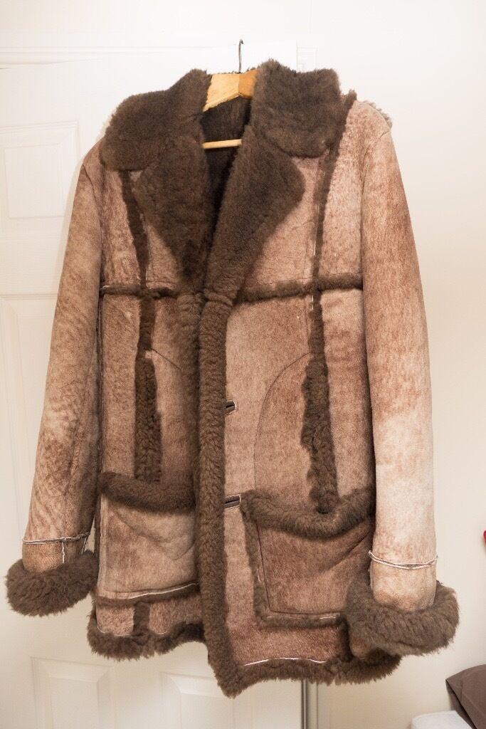 Mens Marino Sheepskin Coat (Genuine Nurseys of Bungay) 42&quot Hardly