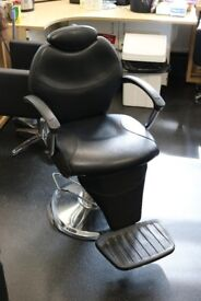 Barbers Chair; adjustable back and gas lift base