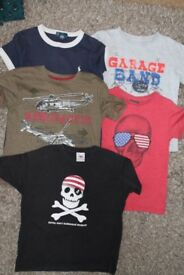 Boys bundle of t-shirts - age 5 years