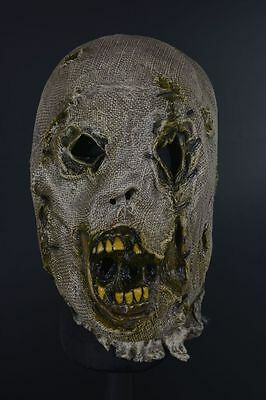 Distortions Halloween Masks (Distortions Unlimited Collection Scarecrow Halloween Mask Costume Zombie)