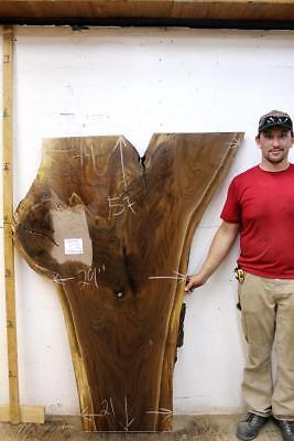 Black Walnut Rustic Live Edge Kitchen Island Unique Natural Raw Wood Slab 5933x2