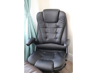 Office leather massage chair/ for computer table