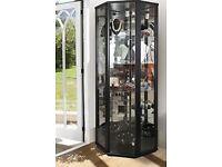 NEW in BOX (£150 MSRP) Space Range 1 Door Glass Display Cabinet UNIT Black