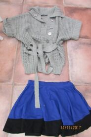 M & S Skirt, age 11-12 yrs, Cardi Size 10-12. £3 for both. Torquay or can post.