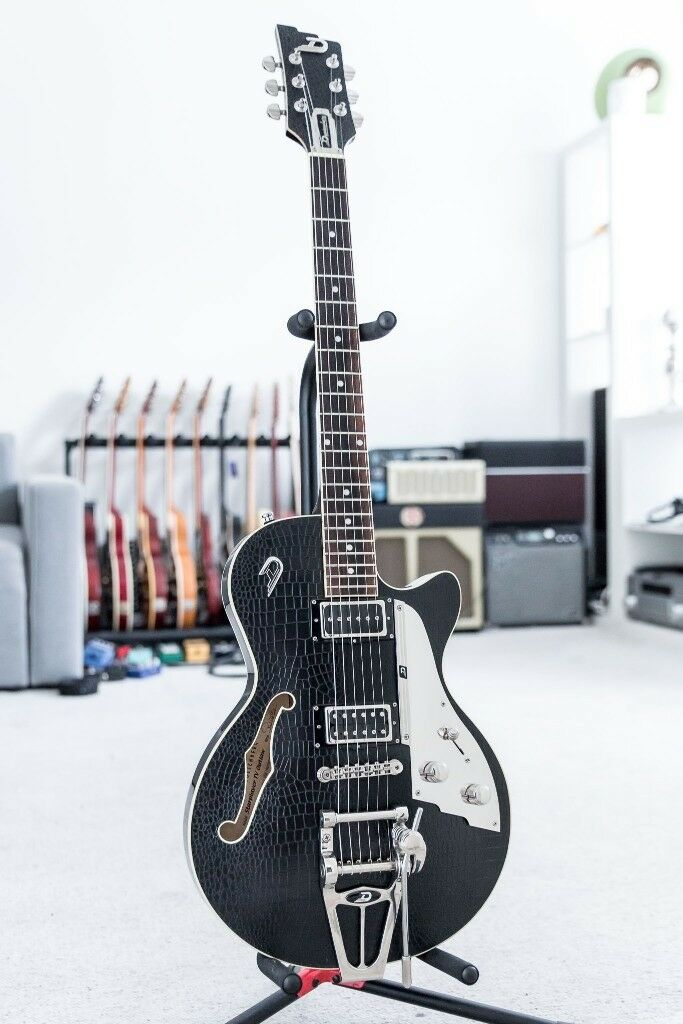 2014 Duesenberg Starplayer TV Outlaw Black Electric Guitar With Hardcase