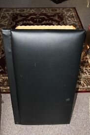 Brown Faux leather headboard for 3 foot single bed - excellent condition