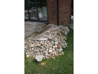 One ton approximately of brick rubble and crushed concrete. Thorpe St andrews Norwich