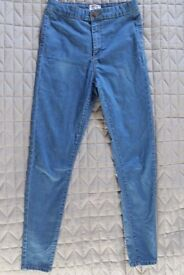 Miss Selfridge High Waisted Jeans - Size 10