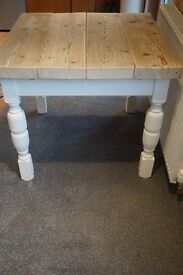 Farmhouse Style Rustic Dining Table 900mm x 900mm