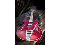 Ibanez AS73T Artcore Semi Hollow Body Guitar With Tremolo in Transparent Cherry