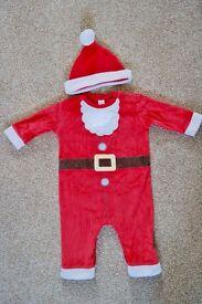 Baby Onesie Santa Suit and Hat NEXT 6-9 month