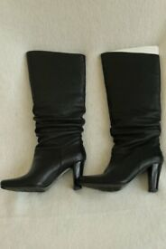 Ladies 'KEW' Black Knee High Boots