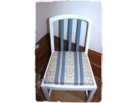 Vintage Blue Shabby Chic/French Country White Chair - Free Delivery