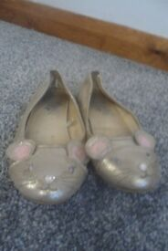Girls Monsoon size 1 mouse shoes