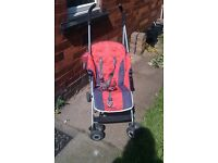 Maclaren buggy orange perfect for holdiday or all round pram