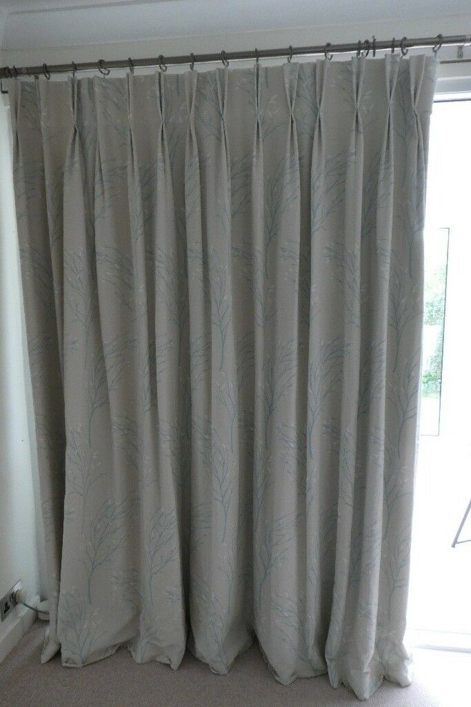 Laura Ashley Curtains Duck Egg Blue Design With Blackout