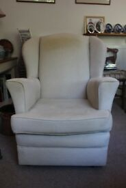 2 wingback armchairs