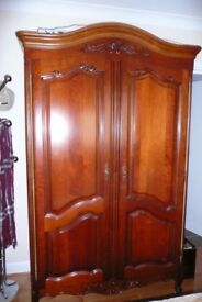 Stunning solid cherry tree wardrobe French Louis Philippe antic style