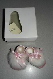 Baby Dior party pram shoes for newborn