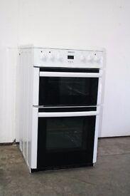 Beko White 50cm Ceramic Top Cooker/Oven Digital Display Good Condition 12 Month Warranty