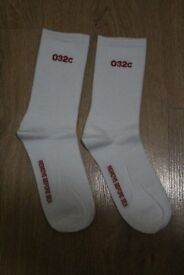New 032c Red White Remove Before Sex Pair of Socks Off A cold Wall Alyx Nike Supreme Stussy Adidas
