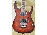 Ibanez RG420FB Mahogany, Figured Bubinga Top RG Series Electric Guitar Edge III